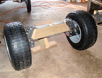 Unfinished front beam axle
