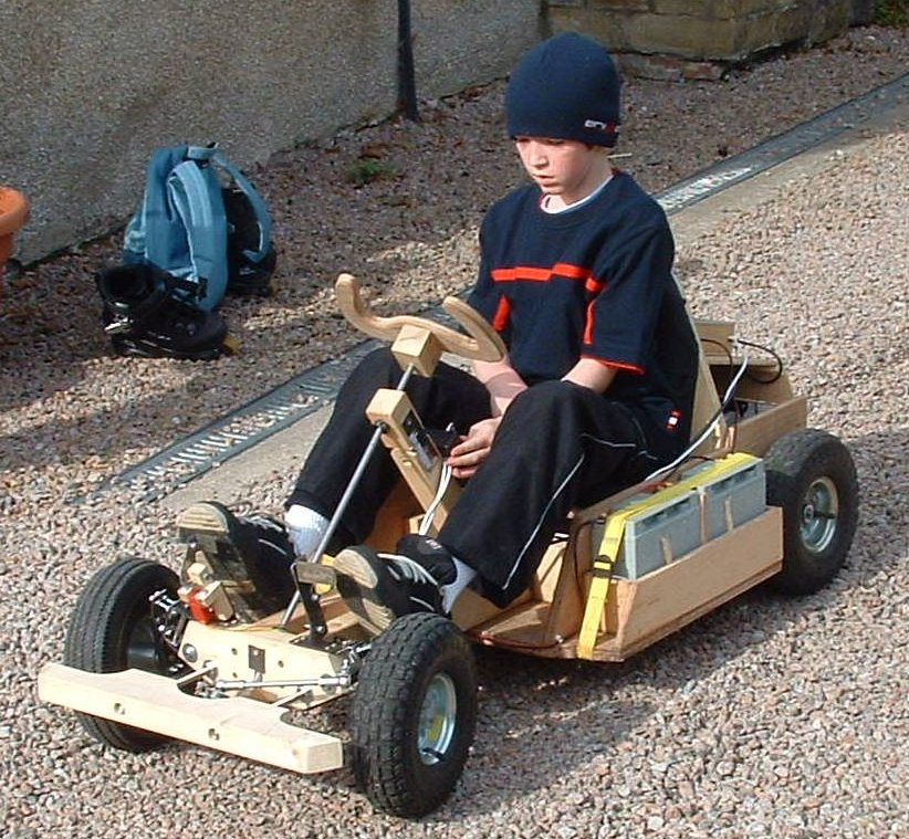 Pedal powered wooden go kart plans