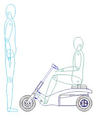 Trike with standing adult