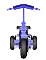 Front View on Single Motor Trike
