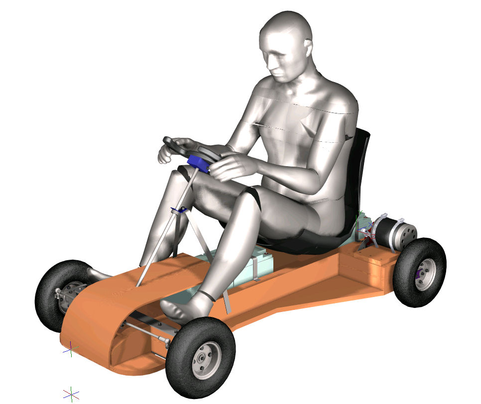 go kart design. In use the kart will need to